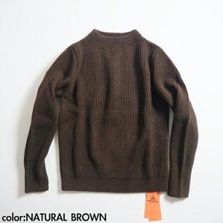 COMOLI - ANDERSEN-ANDERSEN THE NAVY クルーネック ブラウン