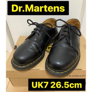 ドクターマーチン(Dr.Martens)のドクターマーチン 3ホール 26.5cm 美品 革靴 黒 1461(ブーツ)