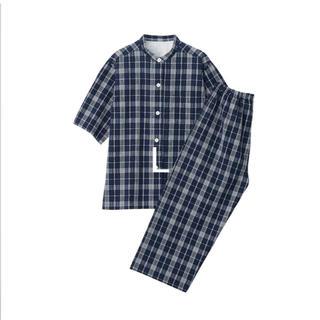 MUJI (無印良品) - 脇に縫い目のない サッカー織り パジャマ