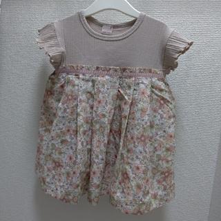 プティマイン(petit main)のプティマイン 花柄タックチュニック(Tシャツ/カットソー)