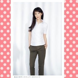 ユニクロ(UNIQLO)の新品 スキッパーシャツ 長谷川京子 ユニクロ コラボ ドライ ポロシャツ(ポロシャツ)