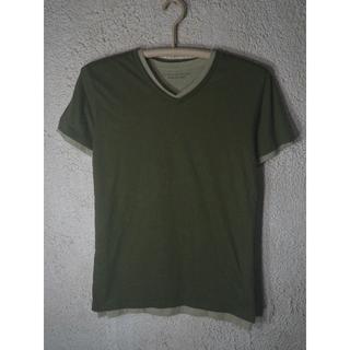 ナノユニバース(nano・universe)のo1033 ジュン ハシモト ナノユニバース 半袖 重ね着 Vネック tシャツ(Tシャツ/カットソー(半袖/袖なし))