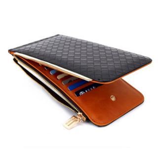 二つ折り長財布 カードケース メンズ レディース 大容量 小銭入れ付 かっこいい(折り財布)