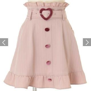 LIZ LISA - ピンクストライプフリルスカート