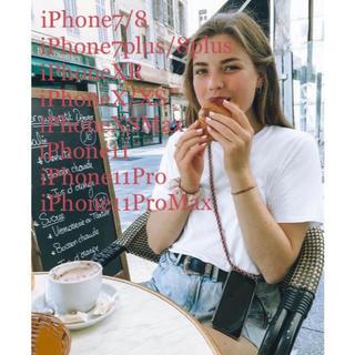 ユナイテッドアローズ(UNITED ARROWS)のクロスボディフォン ケース レッド チェック ミックス柄(iPhoneケース)