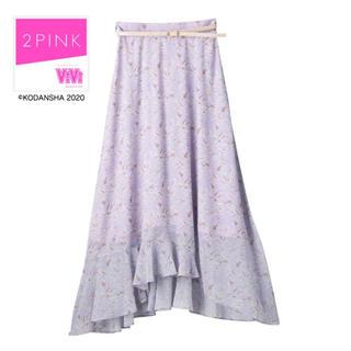 しまむら - しまむら  VIVI 2pink  花柄ロングスカート シフォン