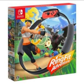 ニンテンドースイッチ(Nintendo Switch)の任天堂Switch リングフィットアドベンチャー 新品(家庭用ゲームソフト)