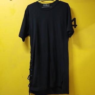 ヨウジヤマモト(Yohji Yamamoto)のY's Yohji Yamamoto ヨウジヤマモト レースアップ Tシャツ(Tシャツ/カットソー(半袖/袖なし))