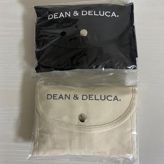 ディーンアンドデルーカ(DEAN & DELUCA)のディーン&デルーカ エコバック ブラック×ナチュラル 2点セット(エコバッグ)