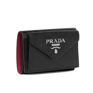 プラダ(PRADA)の新品未使用 プラダ PRADA  三つ折り 財布 レザー メンズ レディース(折り財布)
