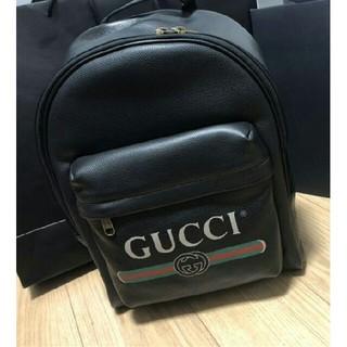 グッチ(Gucci)の★ 超人気GUCCI ロゴ レザー バックパック(バッグパック/リュック)