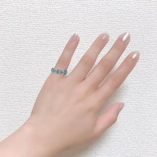 ハンドメイド♡ビーズリング♡シーグラス(リング)