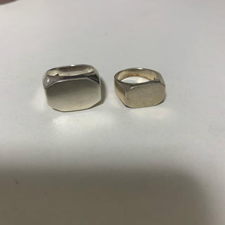 マルタンマルジェラ(Maison Martin Margiela)のシルバー925 シグネットリング(リング(指輪))