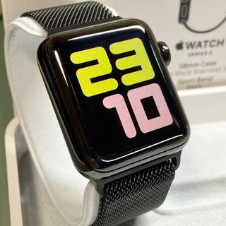 アップルウォッチ(Apple Watch)の希少 Apple Watch シリーズ2 38mm スペースブラックステンレス(その他)