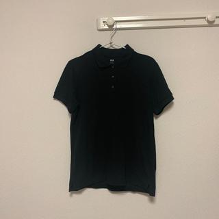 ユニクロ(UNIQLO)のレディース 黒 ポロシャツ(ポロシャツ)