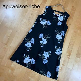 Apuweiser-riche - 【Apuweiser-riche】花柄ワンピース Mサイズ ブラック