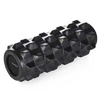 フォームローラー ヨガポール マッサージローラー ブラック(トレーニング用品)