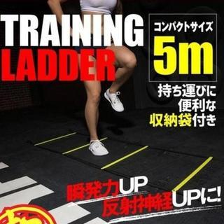 【お得♪】トレーニング ラダー 5m9枚 収納袋付き サッカー フットサル(トレーニング用品)