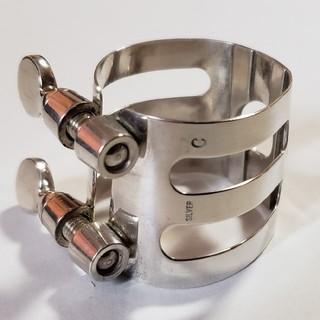 石森管楽器(ウッドストーン)リガチャー 純銀製 B♭クラリネット用(クラリネット)