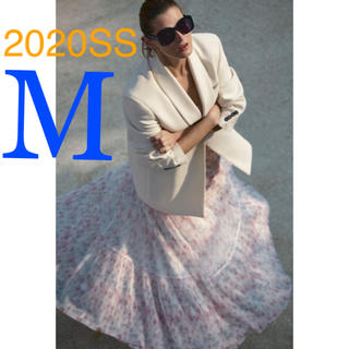 ザラ(ZARA)の*2020SS*ZARA フラワー プリント スカート プリーツ チュール(ロングスカート)
