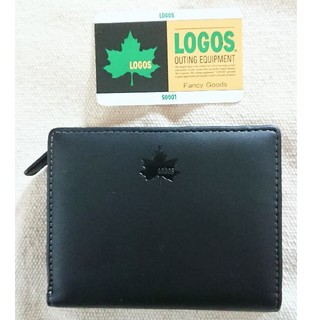 ロゴス(LOGOS)の新品 LOGOS 2つ折り財布 ブラック 送料無料(折り財布)