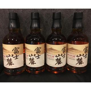 富士山麓 樽熟原酒50度 700ml×4本(ウイスキー)