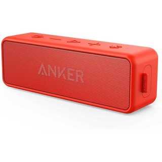 Anker Soundcore2 スピーカー 24時間連続再生レッド(スピーカー)