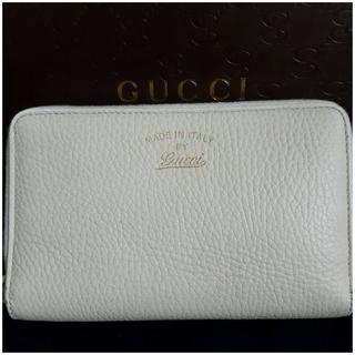 Gucci - 美品 GUCCI(グッチ) ラウンドファスナー 財布 二つ折り レディース 財布