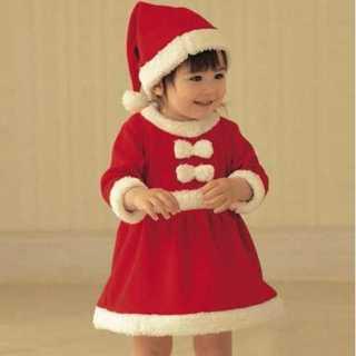 ガールズ 110 子どもサンタコスプレ ベビー コスプレ ミニサンタ クリスマス(衣装一式)