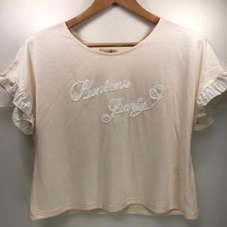 アマベル(Amavel)のAmavel(アマベル) ロゴ刺繍入りTシャツ ピンク 半袖(シャツ/ブラウス(半袖/袖なし))