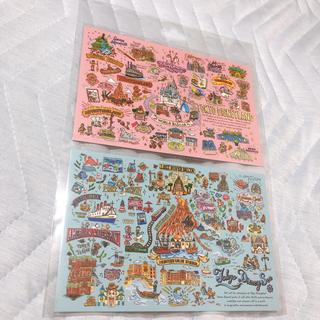 ディズニー(Disney)の7/10 夕方までの限定出品! 東京ディズニーリゾート ポストカード 2枚セット(使用済み切手/官製はがき)