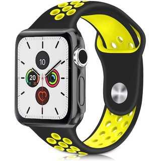 【B28】Apple Watch スポーツバンド42mm/44mm(黒イエロー)(その他)