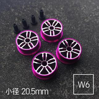 ミニ四駆 アルミホイール 4個セット(小径ツインスポーク)ピンク(模型/プラモデル)