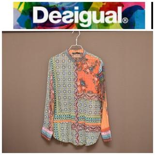 DESIGUAL - デシグアル デザイン カラフル シャツ XL