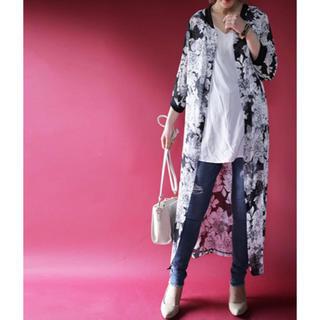 antiqua - ☆★☆ アンティカ 花柄 シフォンロング羽織り