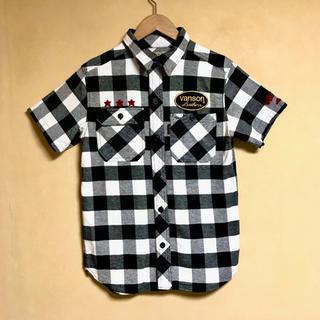 バンソン(VANSON)の新品未使用 VANSON / バンソン チェックシャツ S ブラック×ホワイト(シャツ)