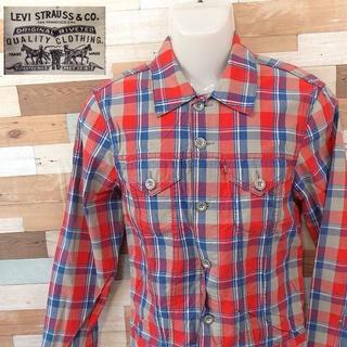 リーバイス(Levi's)の【LEVI'S】 美品 リーバイス レッドチェック長袖シャツ サイズM(シャツ)