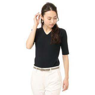 アオヤマ(青山)の洋服の青山 レディスVネックニット(半袖)(ニット/セーター)