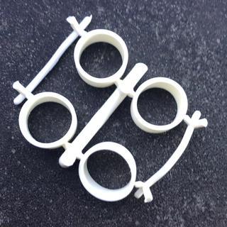 ミニ四駆 小径ペラタイヤ 内径20.5mm / 厚み1.8mm ホワイト(模型/プラモデル)