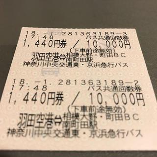羽田空港⇄町田・相模大野高速バス1440円券×2枚(その他)