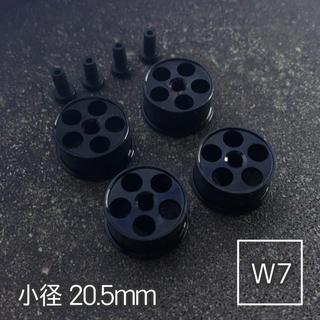 ミニ四駆 アルミホイール 4個セット(小径丸穴)ブラック(模型/プラモデル)