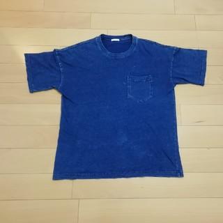 ジーユー(GU)のGU インディゴブルーTシャツ(Tシャツ/カットソー(半袖/袖なし))