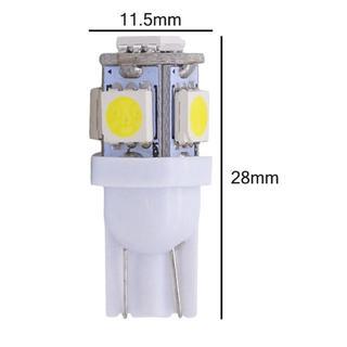 車用 T10 LEDウェッジ電球 12V(白 ホワイト) 4個セット(汎用パーツ)