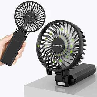 ブラック携帯扇風機 手持ち扇風機 充電式 「4in1機能搭載」ハンディファン U(扇風機)