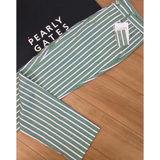 PEARLY GATES - 新品 パーリーゲイツ ジャックバニー ストライプパンツ(5)サイズL/緑×白