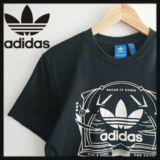 adidas - 1025 アディダスオリジナルス デカロゴ Tシャツ ブラック L