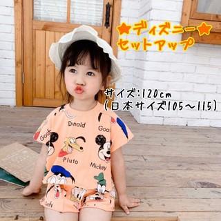 Disney - 【在庫わずか☆】ディズニーセットアップ♡オレンジ(キッズ:120cm)
