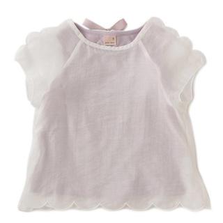 プティマイン(petit main)のプティマイン 透けスカラップTシャツ(Tシャツ/カットソー)