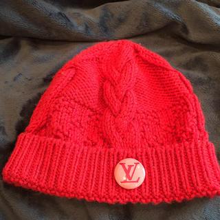 ルイヴィトン(LOUIS VUITTON)のニット帽 ニットキャップ★ルイヴィトン 赤★★可愛い♡♡(ニット帽/ビーニー)