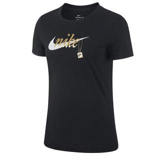 ナイキ(NIKE)の新品 NIKE ナイキ レディース 半袖 Tシャツ ブラック 黒 トレーニング(ウェア)
